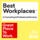 Torch Technologies Named One of the 2020 Best Workplaces in Consulting and Professional Services by Great Place to Work® for Fifth Consecutive Year
