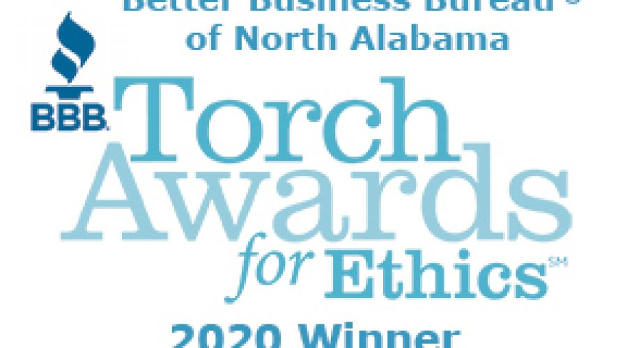 Torch Wins 2020 North Alabama Better Business Bureau Torch Award for Marketplace Ethics